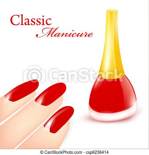 manicure, clássicas - csp6236414