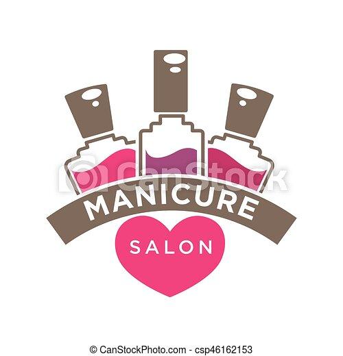 manicure salon or nails design studio vector polish bottles icon rh canstockphoto com manicure clipart images manicure pedicure clipart free