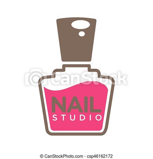 Manicure salon or nails design studio vector polish bottle manicure salon or nails design studio vector polish bottle icon prinsesfo Image collections