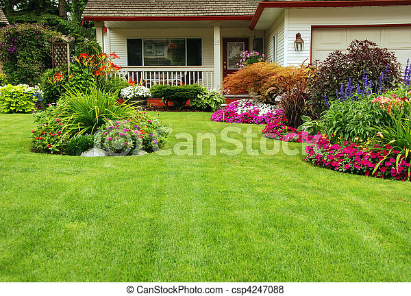 Manicured Yard - csp4247088