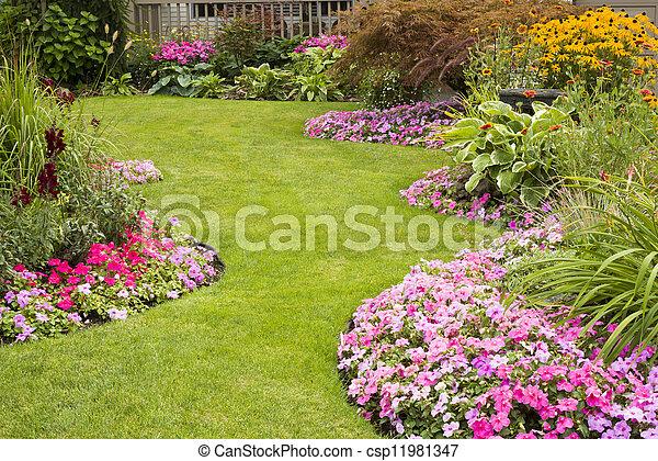 Manicured Yard - csp11981347