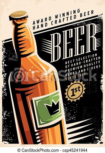 manifesto, birra, retro - csp45241944