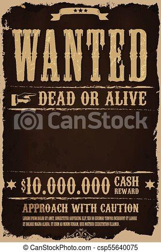 manifesto, desiderato, occidentale, fondo - csp55640075