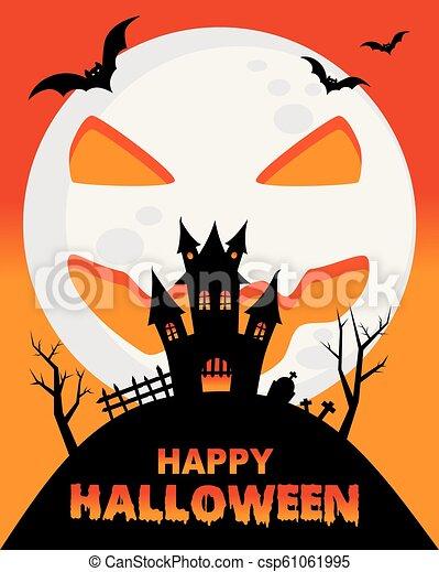 manifesto, halloween, felice - csp61061995
