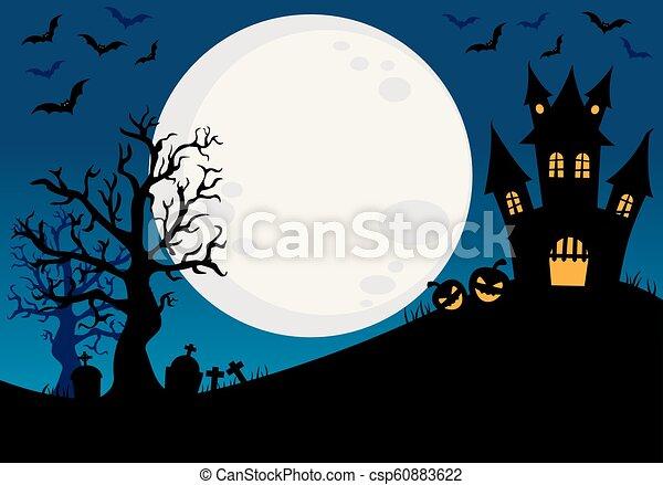 manifesto, halloween, felice - csp60883622