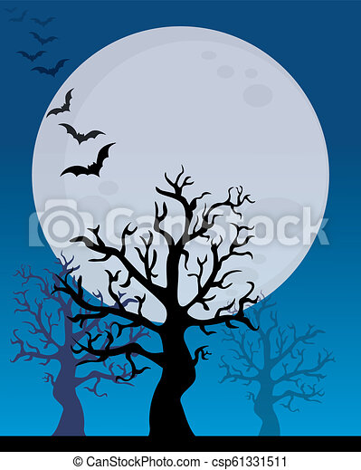 manifesto, halloween, felice - csp61331511