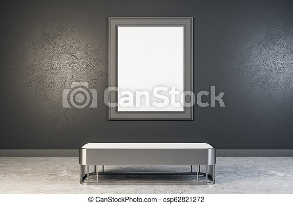 manifesto, moderno, galleria, vuoto - csp62821272