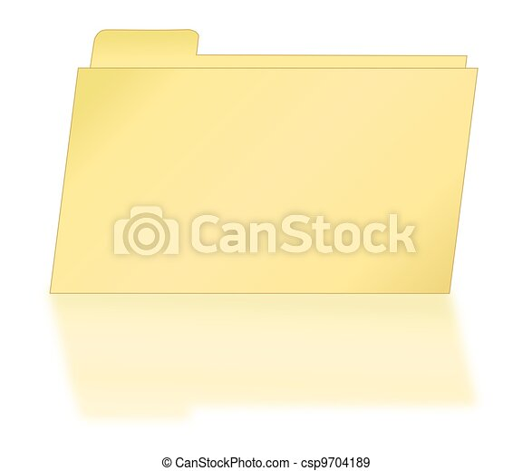 Manila File Folder with Shadow - csp9704189