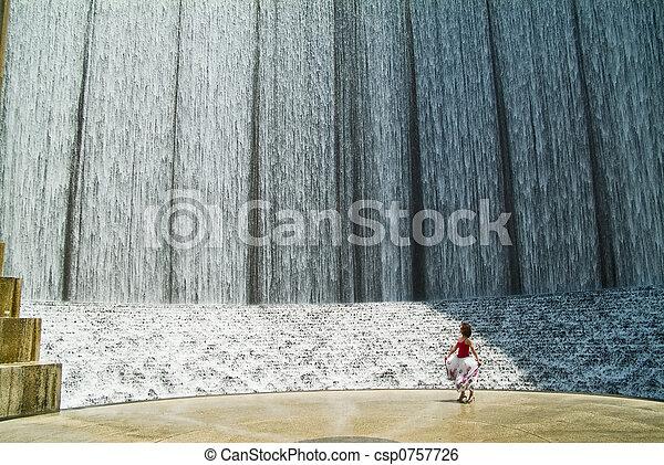Manmade Waterfall 1 - csp0757726