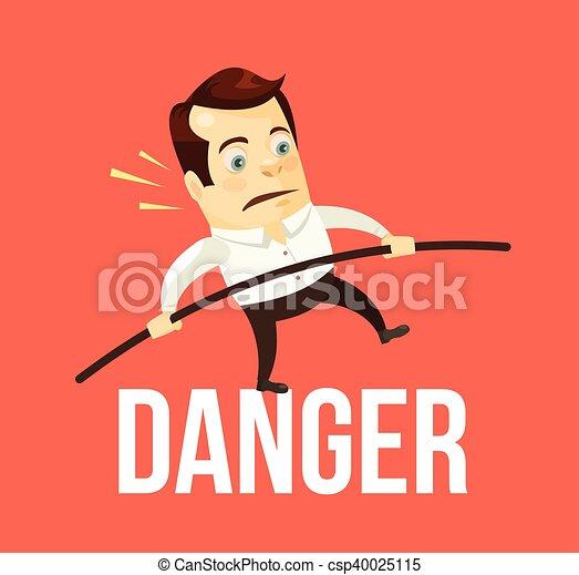 Geschäftsmann, der Gefahr ausgleicht - csp40025115