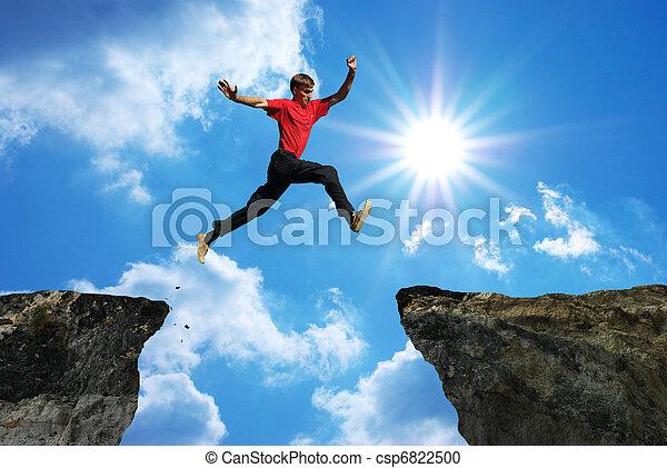 mann, springen - csp6822500