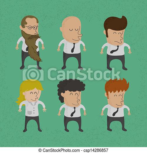 mannen, groep, handel vrouwen - csp14286857
