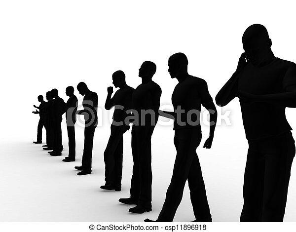 mannen, groep, zakelijk - csp11896918