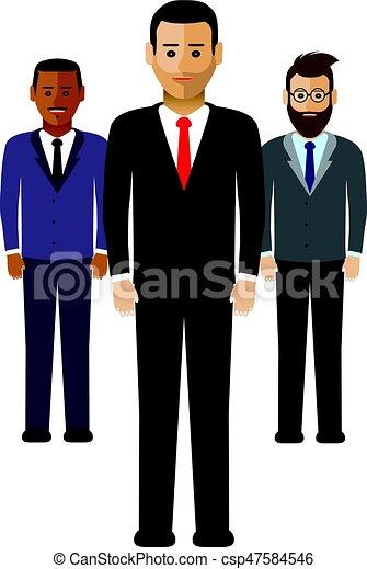 mannen, groep, zakelijk - csp47584546
