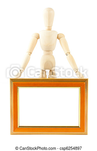 Mannequin in pose with frame - csp6254897