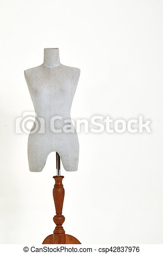 mannequin isolated on white background - csp42837976