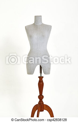 mannequin isolated on white background - csp42838128