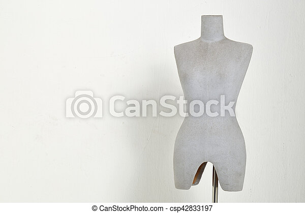 mannequin isolated on white background - csp42833197