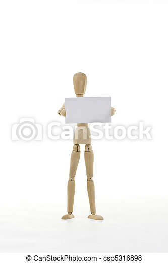 Mannequin with blank card - csp5316898