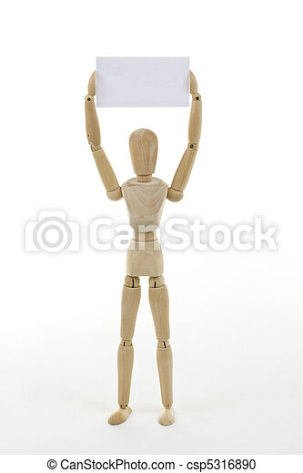 Mannequin with blank card - csp5316890