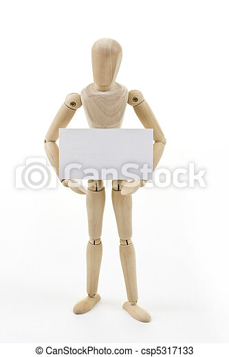 Mannequin with blank card - csp5317133