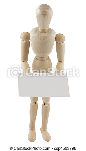 Mannequin with blank sign - csp4503796