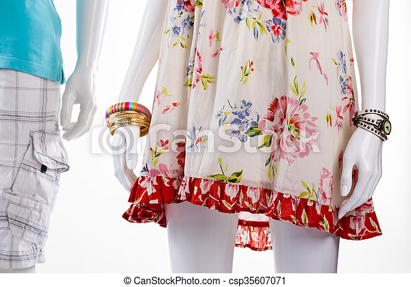 2abd7494c19e Sarafan and shorts on mannequins. mannequins in light fabric ...