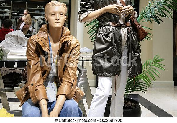 mannequins in store - csp2591908