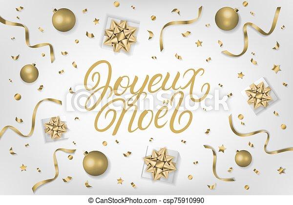 mano, letras, noel, escrito, 2020, joyeux - csp75910990