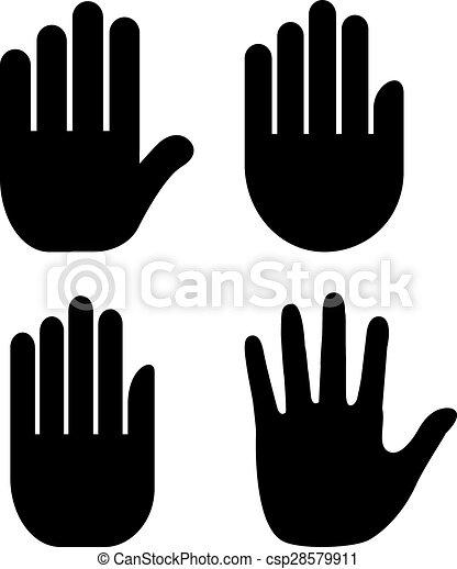 El ícono de la mano - csp28579911