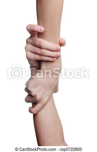Ayudando a la mano - csp0722800