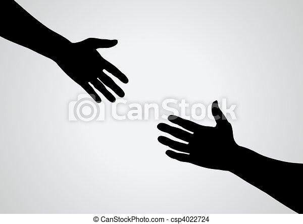 Ayudando a la mano - csp4022724