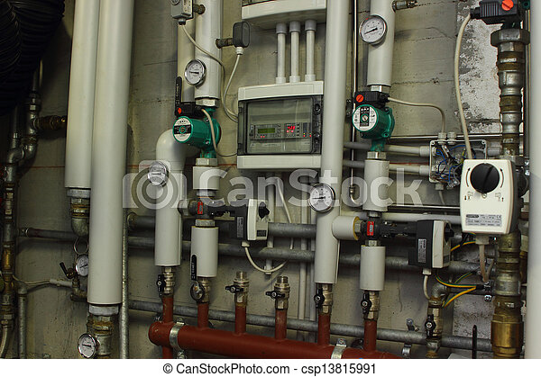Eco-house, manometer, heizsystem Stockfotos - Suche Foto Clipart ...