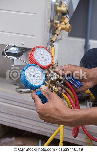 manometers, equipment for filling air conditioners - csp39416519