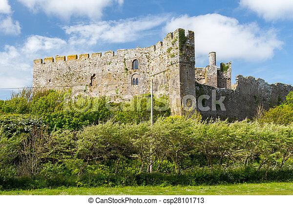 Manorbier Castle Wales - csp28101713