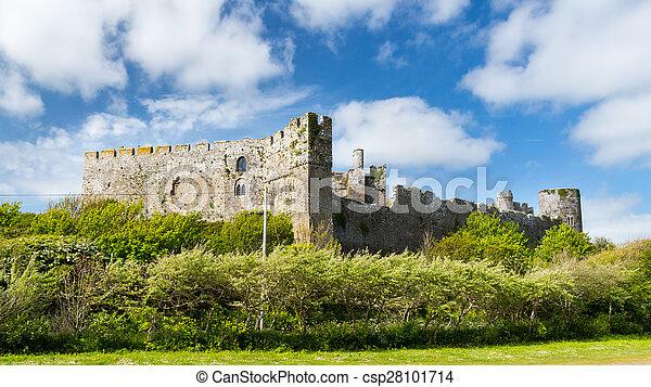 Manorbier Castle Wales - csp28101714