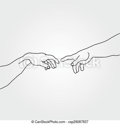 Las manos muestran la creación de Adam - csp29087837