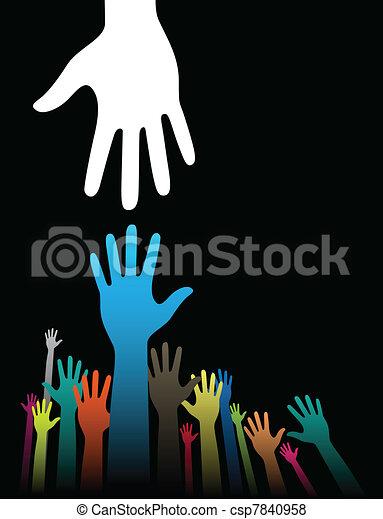 Ayudando manos - csp7840958