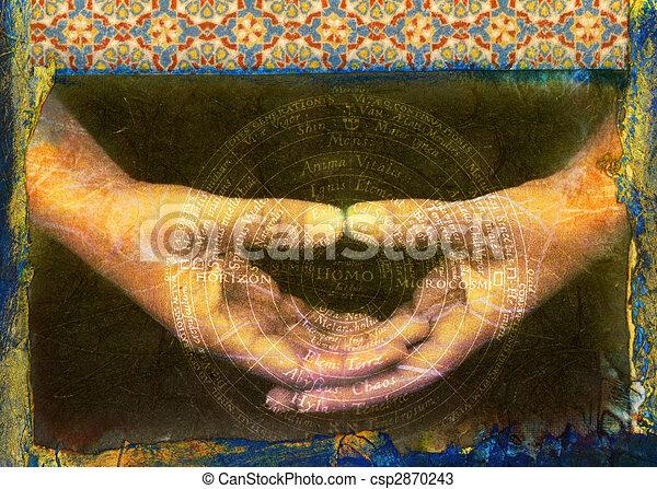 Manos espirituales - csp2870243