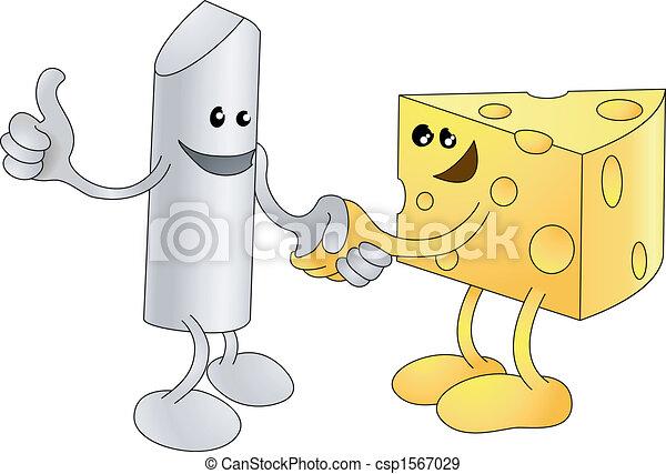 Chalk y Cheese dan la mano - csp1567029