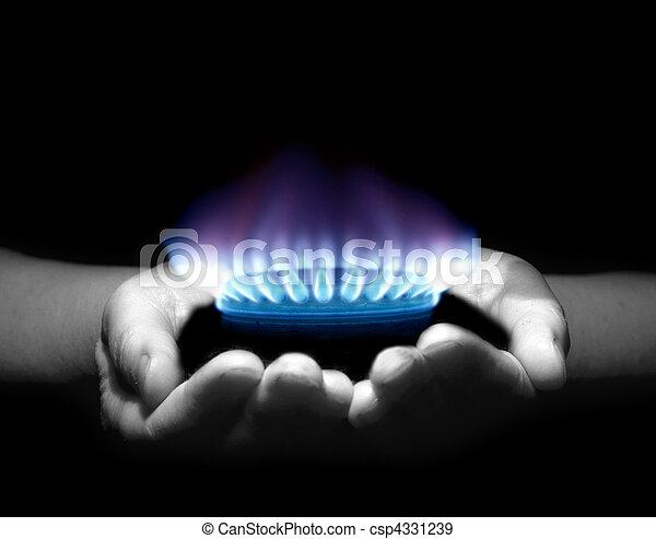 Gas en las manos - csp4331239
