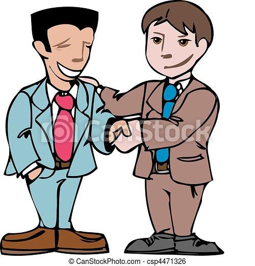 Dos hombres estrechando la mano - csp4471326