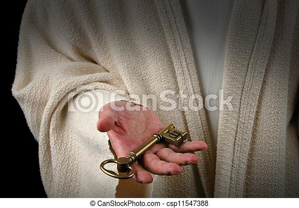Manos de Jesús y llave - csp11547388