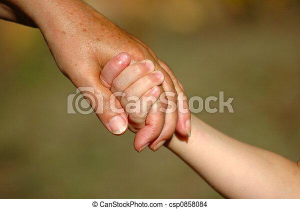 Tomando las manos - csp0858084
