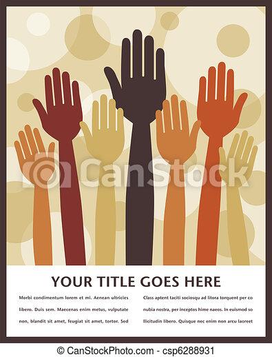 Votando diseño de manos. - csp6288931