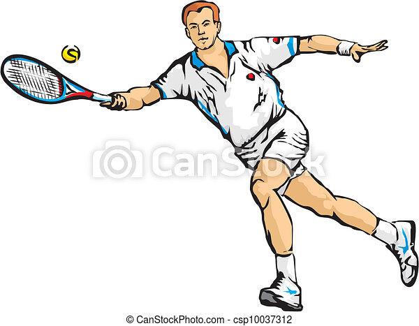 man`s, tennis - csp10037312