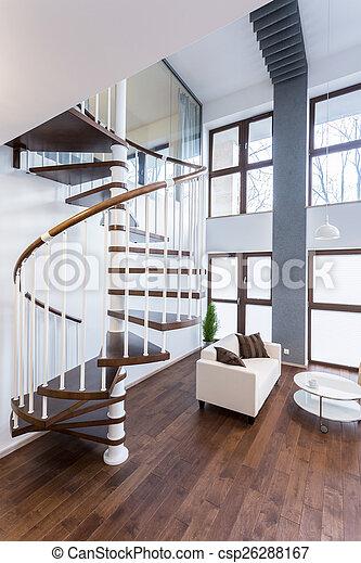 Mansion Escaleras Lujo Espiral Mansion Primer Plano Escaleras - Escaleras-en-espiral