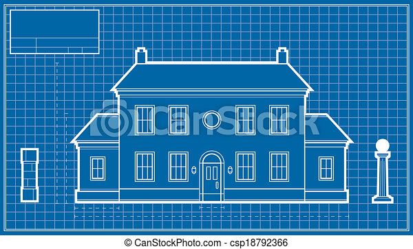 Mansion blueprint a blueprint diagram of a large mansion clip art mansion blueprint csp18792366 malvernweather Image collections