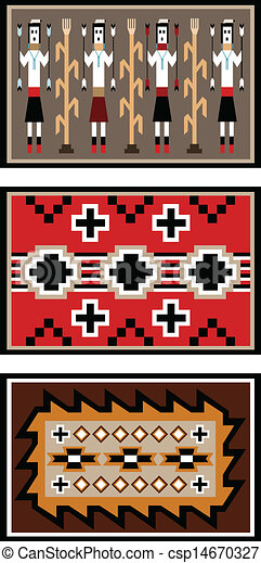 Diseños de mantas de Navajo - csp14670327