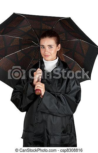 manteau femme pluie manteau blanc femme parapluie image de stock recherchez photos. Black Bedroom Furniture Sets. Home Design Ideas